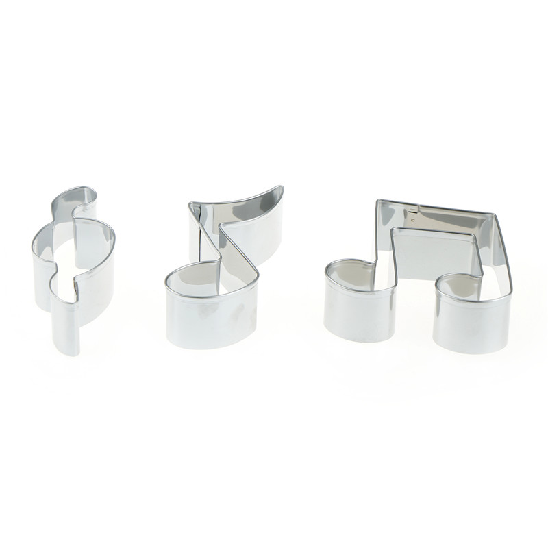 Creative Design  Music Note Shape Stainless Steel Cookie Cutter Mold Biscuit Accessories Cake Decorating Tools Kitchen Supplies