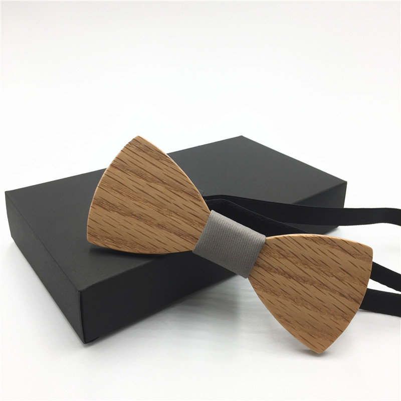 2018 Men's Suit oak Wooden Bow Tie For Groom Wedding Party Men Formal Wear Business Cravat Bow tie Clothing Accessories