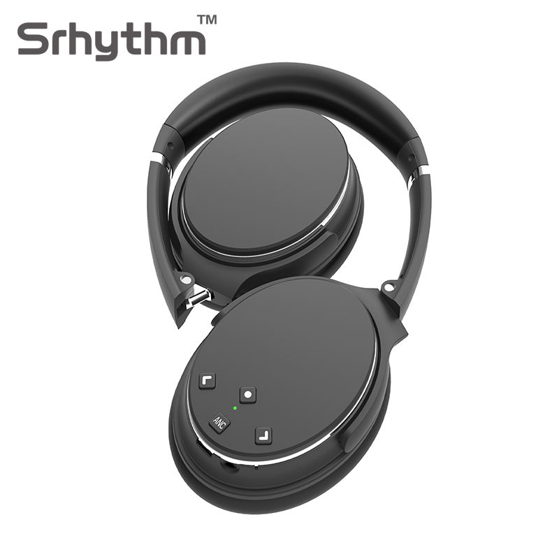 Active Noise Cancelling Bluetooth Headphones Hifi Wireless Headphone ANC Headset Foldable Over Ear Earphone with Mic Black NC25 new metal magnetic wireless bluetooth headphone sport headset hands fress hifi earphone with mic for iphone samsung phones