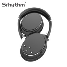 Active Noise Cancelling Bluetooth Headphones Hifi Wireless Headphone ANC Headset Foldable Over Ear Earphone with Mic Black NC25