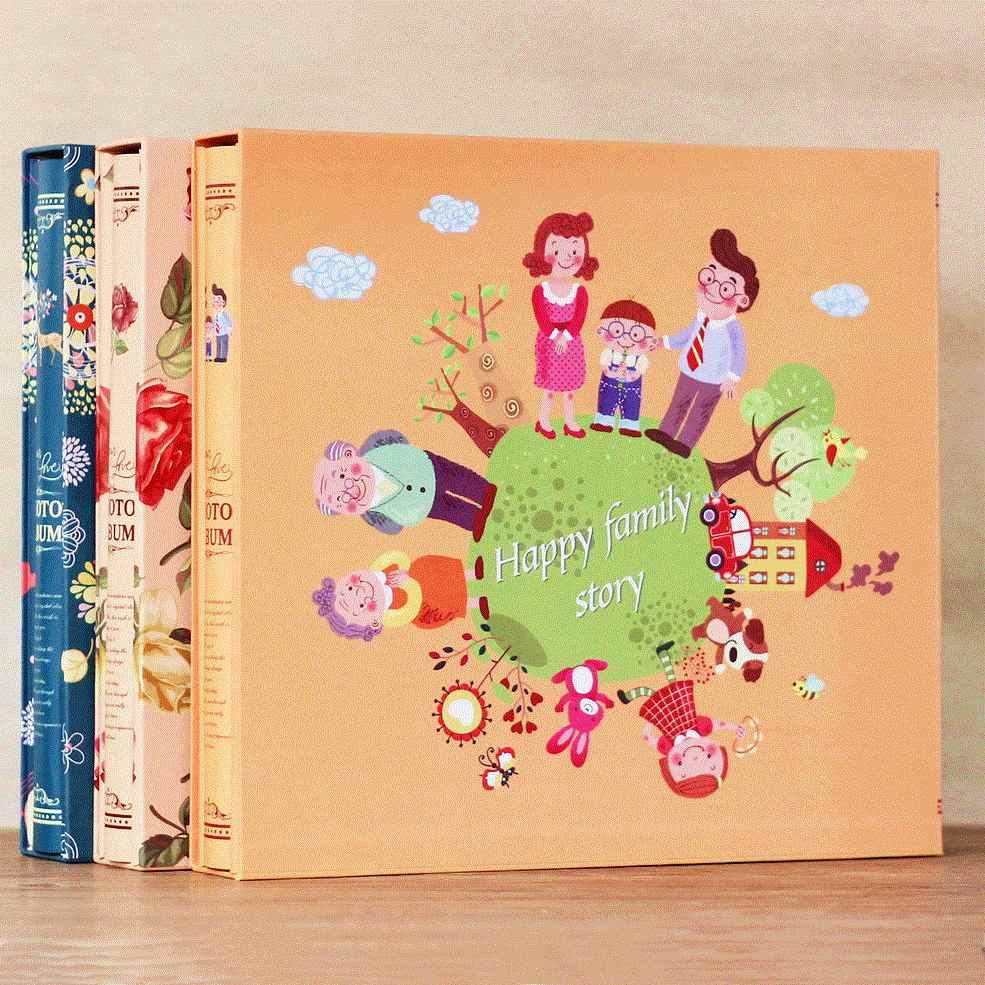 660 Pockets 4 Inch Interleaf Type Big High Capacity Photo Album Albums Commemorative Cartoon Baby