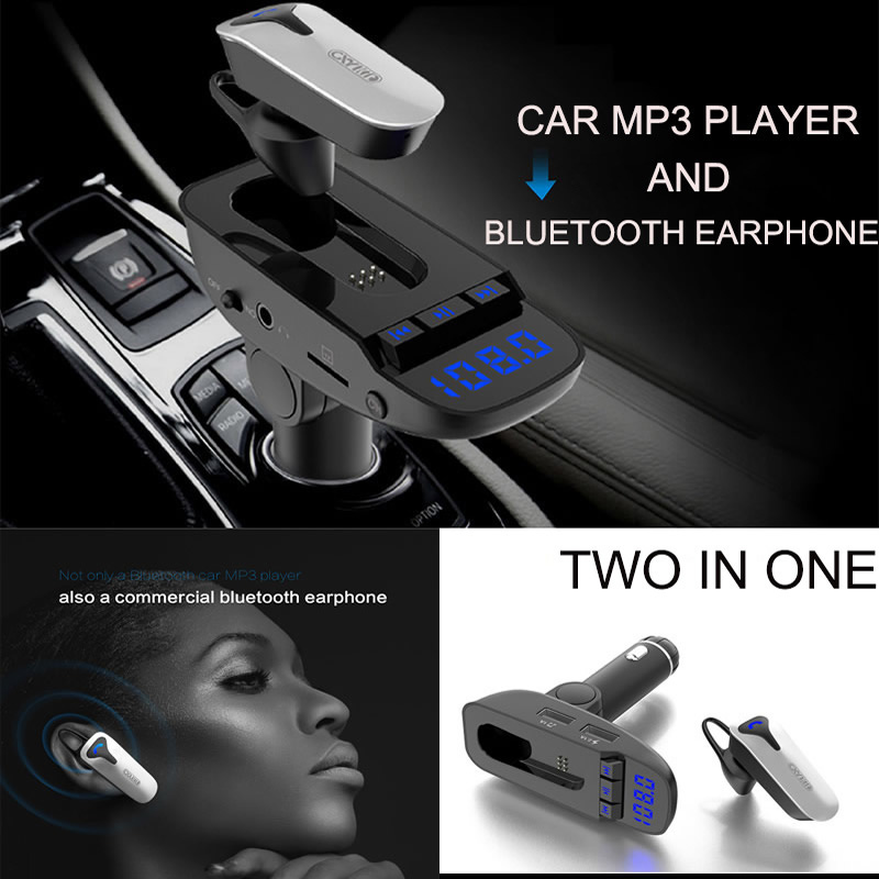 Car Bluetooth Headset Wireless USB Car Charger Radio Audio Receiver with Micro SD/TF Card Slot and Available for All Smartphone aux wireless bluetooth audio receiver adapter with car charger