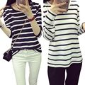 Casual Women Tops Stripped Cotton T Shirt  Long Sleeve T Shirt Size M L XL XXL