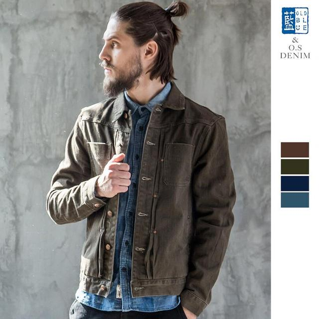 Denim Jacket Men Slim Fit Vintage Mens Jacket And Coat Top Quality