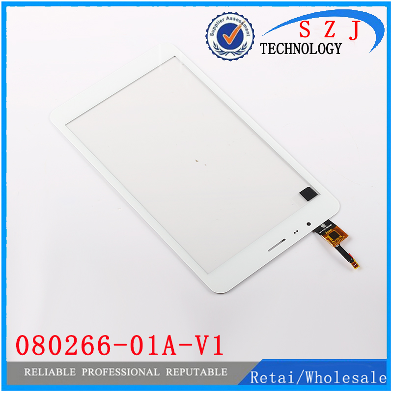 New 8 inch tablet pc 080266 01A V1 Touch Screen Panel Digitizer Glass Replacement Parts Free shipping black + white