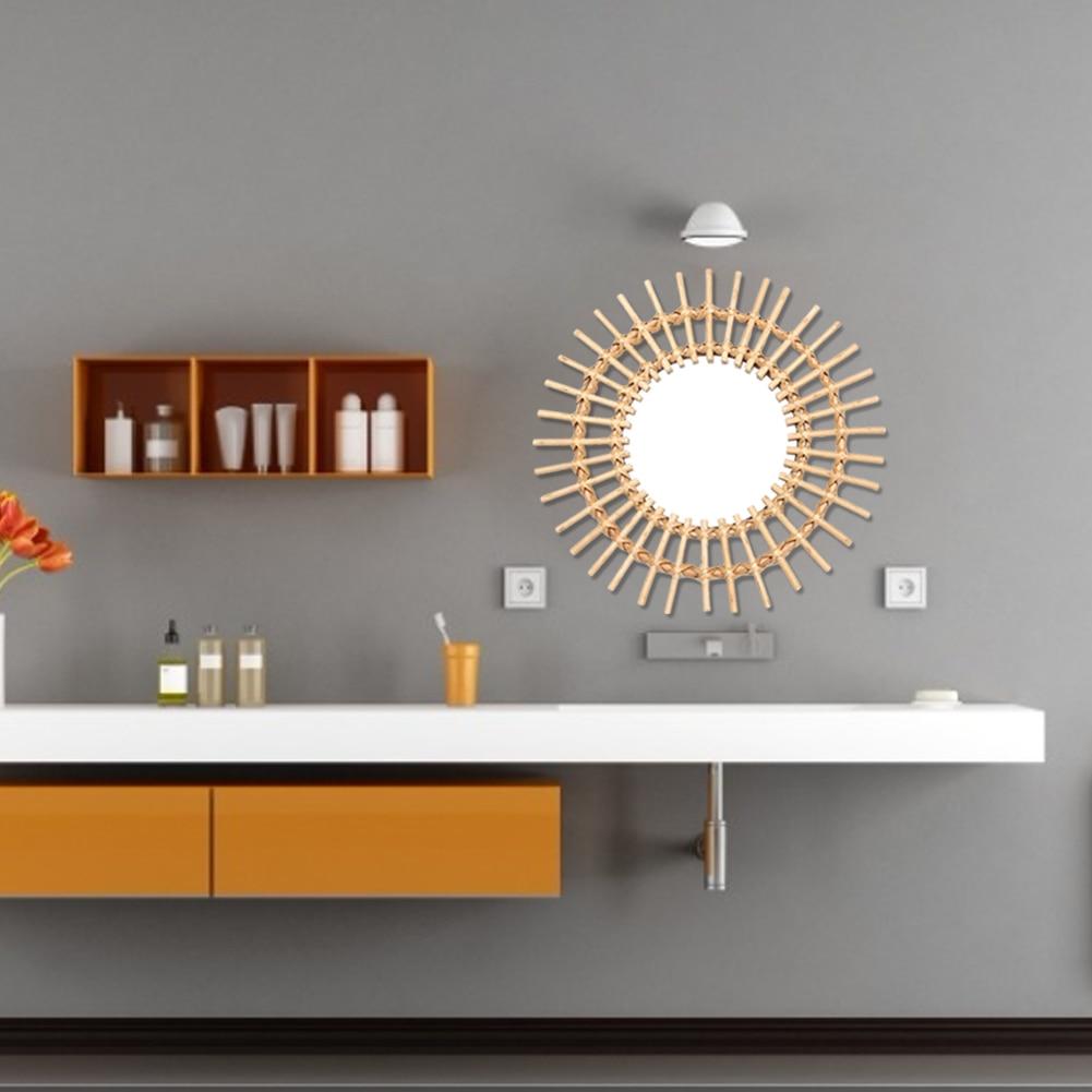 Rattan inovador macrame franja arte decoração redonda
