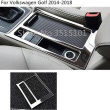 Auto contorno copertura trim bastone interior gear box supporto di tazza telaio cappuccio Per Volkswagen VW Golf7 Golf 7 2014 2015 2016 2017 2018