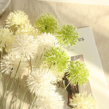 Onion ball dandelion artificial flowers home decoration wedding holding road lead flower wall fake gift for March