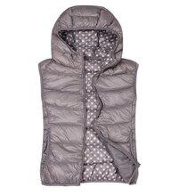Женские осенние куртки размера плюс с капюшоном без рукавов, 93% пуховики, женские теплые пуховики на молнии 93%, женские весенние жилеты