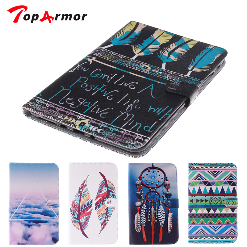 TopArmor Cover Clouds Painted Case for Samsung Galaxy Tab S 10.5 T800 /T805 Tablet Wallet Flip PU Leather Stand Cover Case srjtek 10 5 for samsung galaxy tab s t800 t805 sm t800 sm t805 touch screen digitizer sensor glass tablet replacement parts
