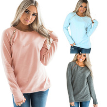 S-2XL o neck long sleeve tops blouse autumn spring winter blouse casual street style holiday blouse tops blouse 0800500 49