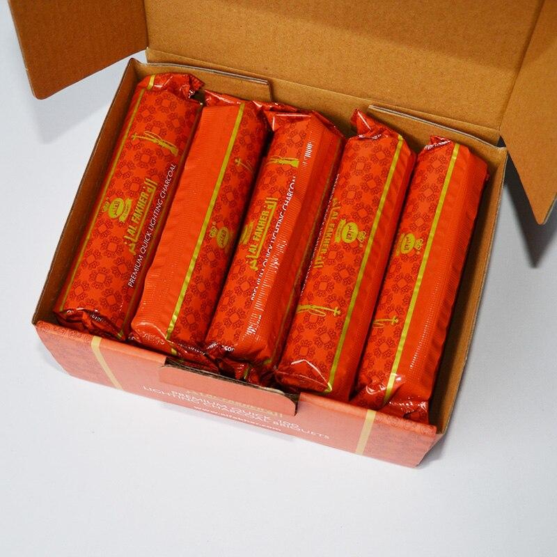 100 stücke Naturel Chicha Voll brennen kohle al holzkohle 33mm schnell licht holzkohle für shisha shisha chicha sheesha