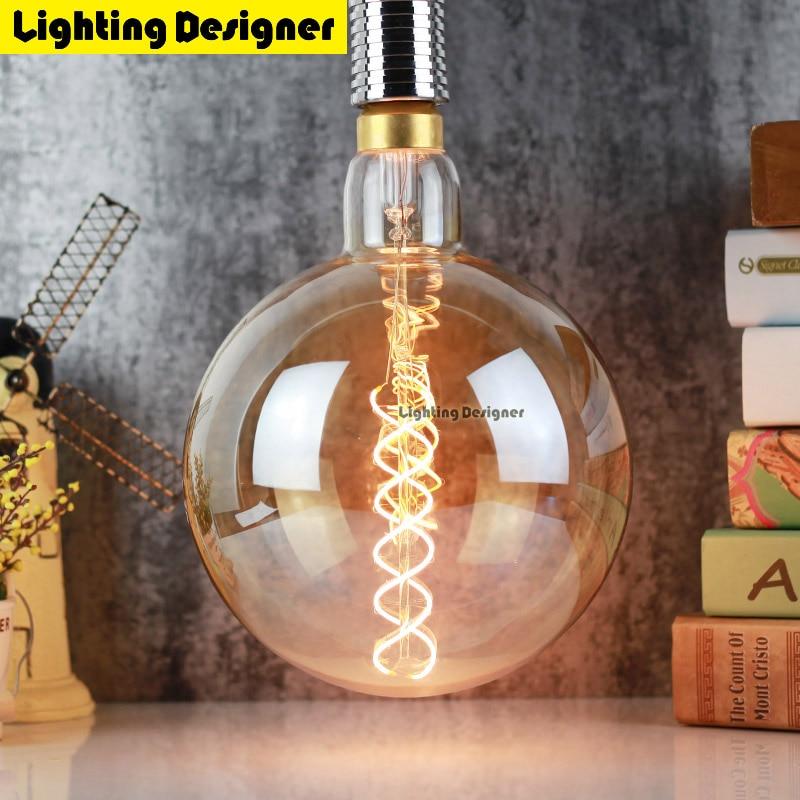 G95 Led Edison Bulb Dimmable Light 110V 220V 4W Vintage Led Filament Bulb Energy Saving Lamp