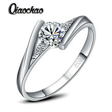 6-9size Silver Plated Wedding Jewelry Rings for Women Crystal Engagement Zircon CZ Ring A birthday present R120