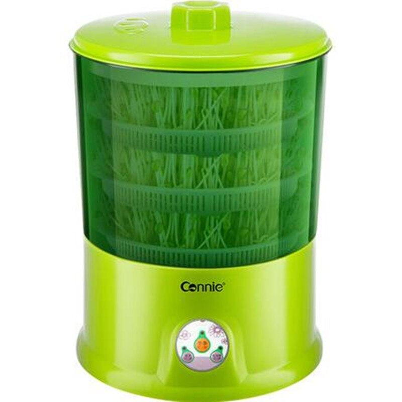 220V ev otomatik elektrikli fasulye filizi makinesi çok fonksiyonlu sağlıklı DIY fasulye filiz yetiştirme makinesi ab/AU/İngiltere /abd
