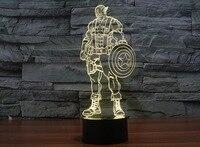 Cool Captain America 3D Gradient light USB night Light Atmosphere table Lamp