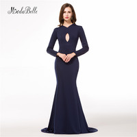 Long Sleeve Mother of The Bride Dresses Elegant Navy Blue Formal Evening Dresses for Mother Groom Guests Vestiti Mamma Sposa