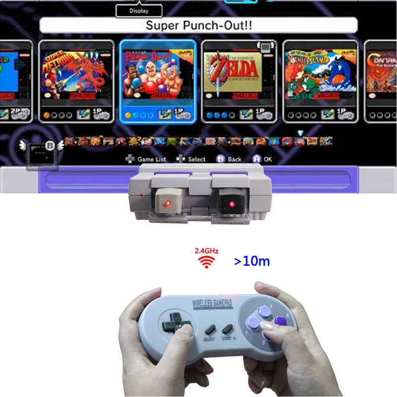 Wireless Gamepads 2 4GHZ Joypad Joystick Controller for SNES NES Classic  Mini windows IOS Android raspberry pi Console remote