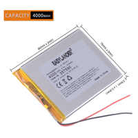 "357590 4000mAh 3.7V akumulator litowo-polimerowy do 7 ""efektu tesli 7.0w Neon 7.0w ostrygi T72HMi 3G T72 Tablet Hmi"