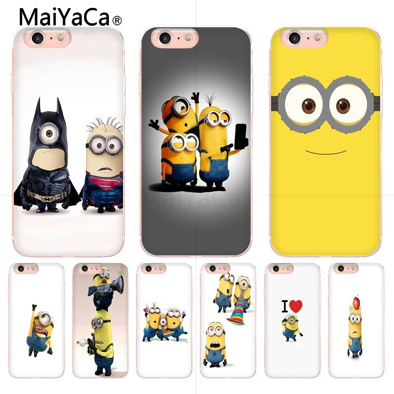 MaiYaCa <font><b>funny</b></font> minions Custom picture print Cover <font><b>Case</b></font> For <font><b>iPhone</b></font> 8 7 6 6S Plus 5 5S SE 5C Coque Shell image