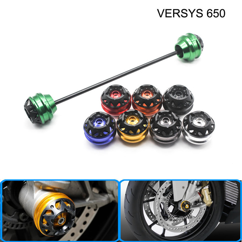 Free delivery for KAWASAKI VERSYS 650 2007-2015 CNC Modified Motorcycle Front and rear wheels drop ball / shock absorber