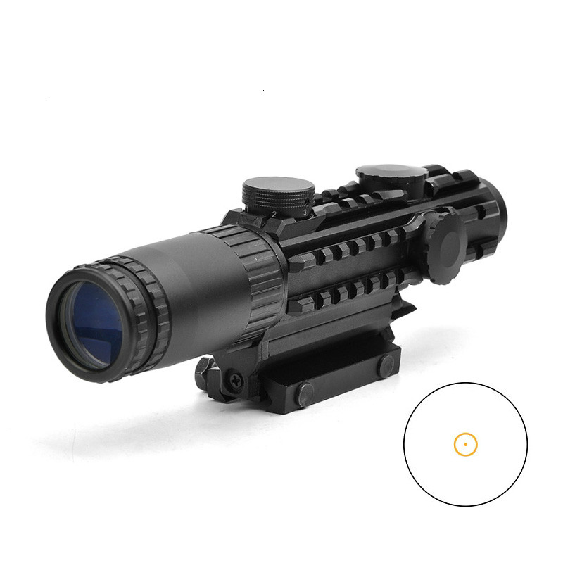 1-3X14 EG Tactical Riflescope With Orange Illuminated  Fits 11/20 Rail Optic Sight Sniper Tactical Rifle Hunting Scope1-3X14 EG Tactical Riflescope With Orange Illuminated  Fits 11/20 Rail Optic Sight Sniper Tactical Rifle Hunting Scope