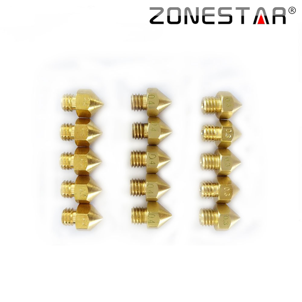 ZONESTAR 5PCS LOT Extruder Nozzle For 1 75mm Filament Compliant with ultimaker MK7 MK8 3D printer