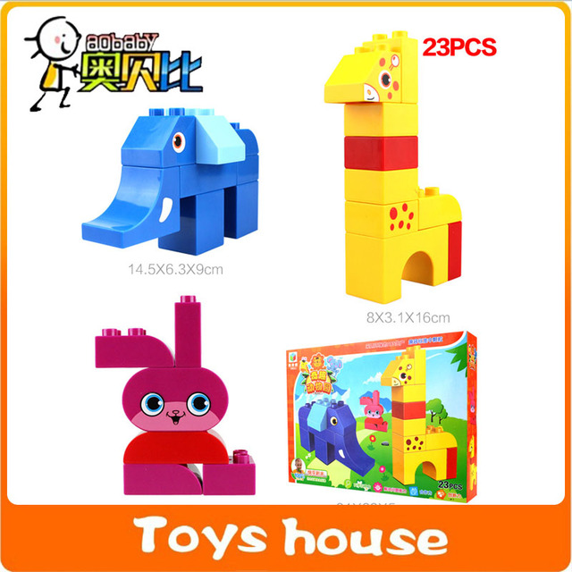 23PCS Building Blocks Mega Construction Toys Toddlers Models Toy Educational