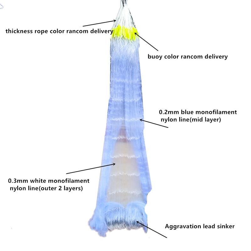 m comprimento 80 m rede de nylon