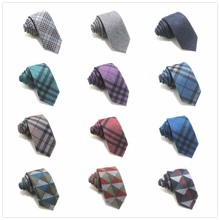 2017 fashion casual lattice business 6 cm tie cotton tie men's wedding striped party slim weight tie tie