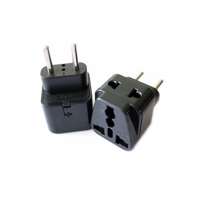 5Pcs European EU to American US USA Travel Adapter Wall Plug Outlet Converter