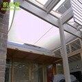 5.5x5.5 M/pcs Personalizado À Prova D' Água Sol Quadrado Sombra Vela Combinação PU Revestido de tecidos de Poliéster para o Pátio de Sol sombra