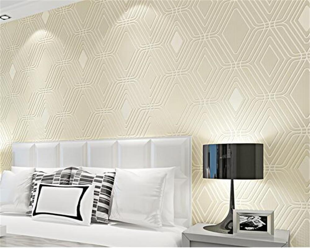 Beibehang Geprgte 3D Wallpaper Rolle Wohnzimmer TV Wand Hintergrundbild Grids Diamant Bettwsche Tapete Papel De