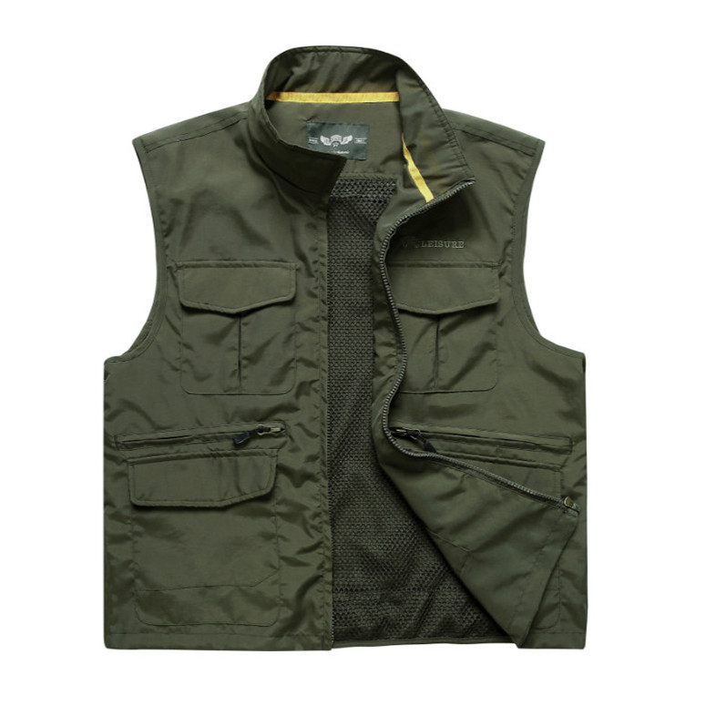 Multi Pocket Jacket Fishing Photography Director Casual Detachable Vest M