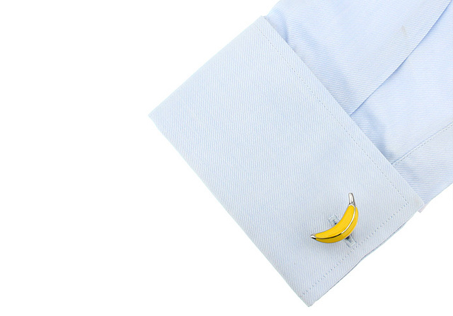 Igame Cufflinks Yellow Color Brass Material Novelty Fruit Design