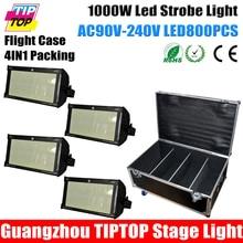 Freeshipping 4in1 Кейс Упаковка 4 XLOT SMD Led Strobe Flash Light 1000 Вт Партия Театр Профессионального Использования Танцевальный Зал/клуб