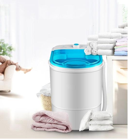 Mini Washing Machine Semi Automatic Washing Machine Single Barrel Washer 2kg Top Open Type Prevent Winding Wave Wheel