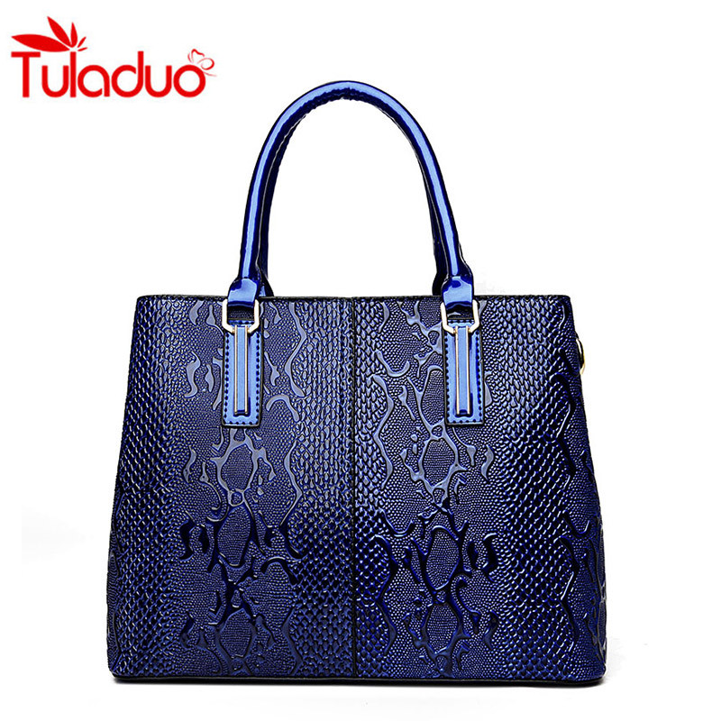 2017 Fashion Luxury Snakeskin Pattern Leather Bags Women's Shoulder Bags Women Handbags Bolsos Mujer Ladies Tote Bag Sac A Main bolsos mujer 2016 pu women tote bag luxury brand bags handbags woman new leather shoulder bag ladies crossbody bag neverfull sac