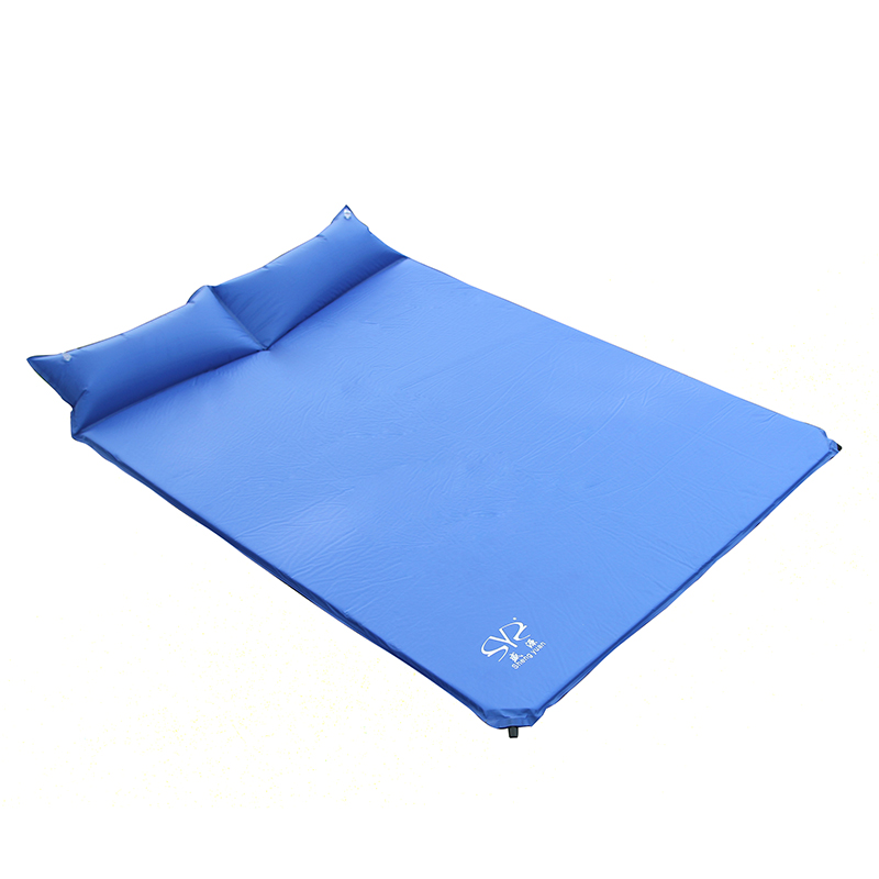 Outdoor Camping Double Automatic Inflatable Air Bed Mattress Moistureproof Folding Tent Beach Mat Sleeping Picnic Pad KU120-1 spliced air mattress self inflating pad automatic inflatable camping mat moistureproof folding tent bed outdoor sleeping airbed