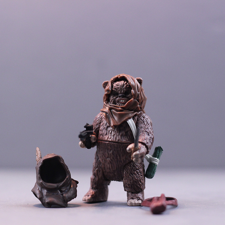 3.75 ''one piece action figure Star Wars Ewok bear  toy model  (Z523)
