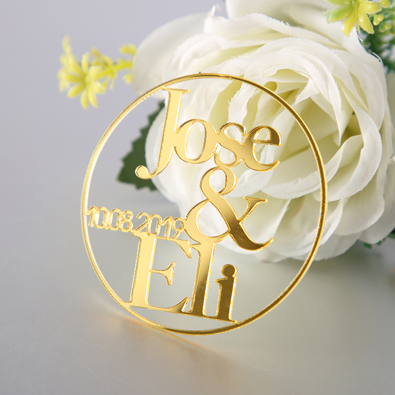 Gold Wedding Place Cards Personalized Acrylic Laser Cut