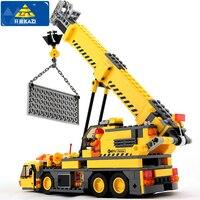 KAZI 380Pcs City Crane Lift Model Building Blocks Baby Toys For Children Compatible Famous Brand Bricks