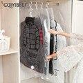 GQIYIBBEI подвесная прозрачная вакуумная сумка для хранения одежды, органайзер для экономии места, складные сумки, упаковка для одежды, Пыленеп...