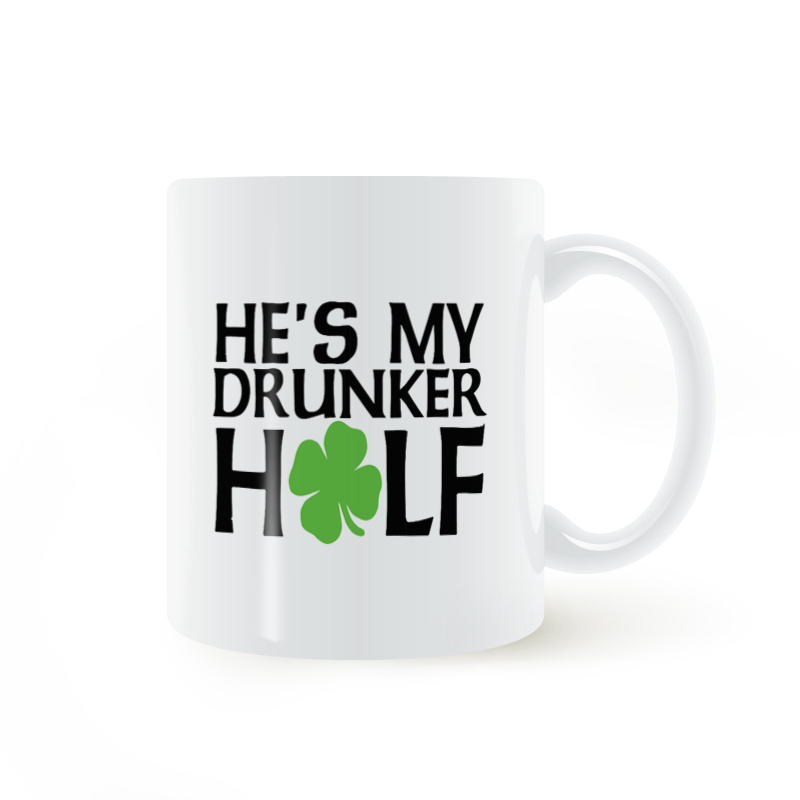 90ac3a03d St. Patricks Day, He's my drunker half Mug Coffee Milk Ceramic Cup Creative  DIY Gifts Home Decor Mugs 11oz T786-in Mugs from Home & Garden on  Aliexpress.com ...
