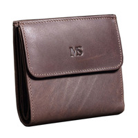 New Genuine Leather Men S Wallet Natural Cow Leather Small Coin Purse Crazy Horse Leather Purse