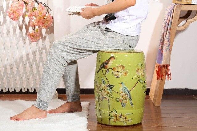 Speciale di colore verde decorazione domestica di ceramica tamburo