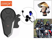 1PC BT S3 1000m Motorcycle Intercom Bluetooth Helmet Headset FM BT Interphone Moto Intercomunicador+Mic for Group Intercom