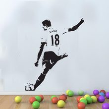 Large Mural Harry Kane Famous Footballer Pop Sport Removable Wall Art Vinyl Transfer Decal Sticker S M L Blue White Orange(China)
