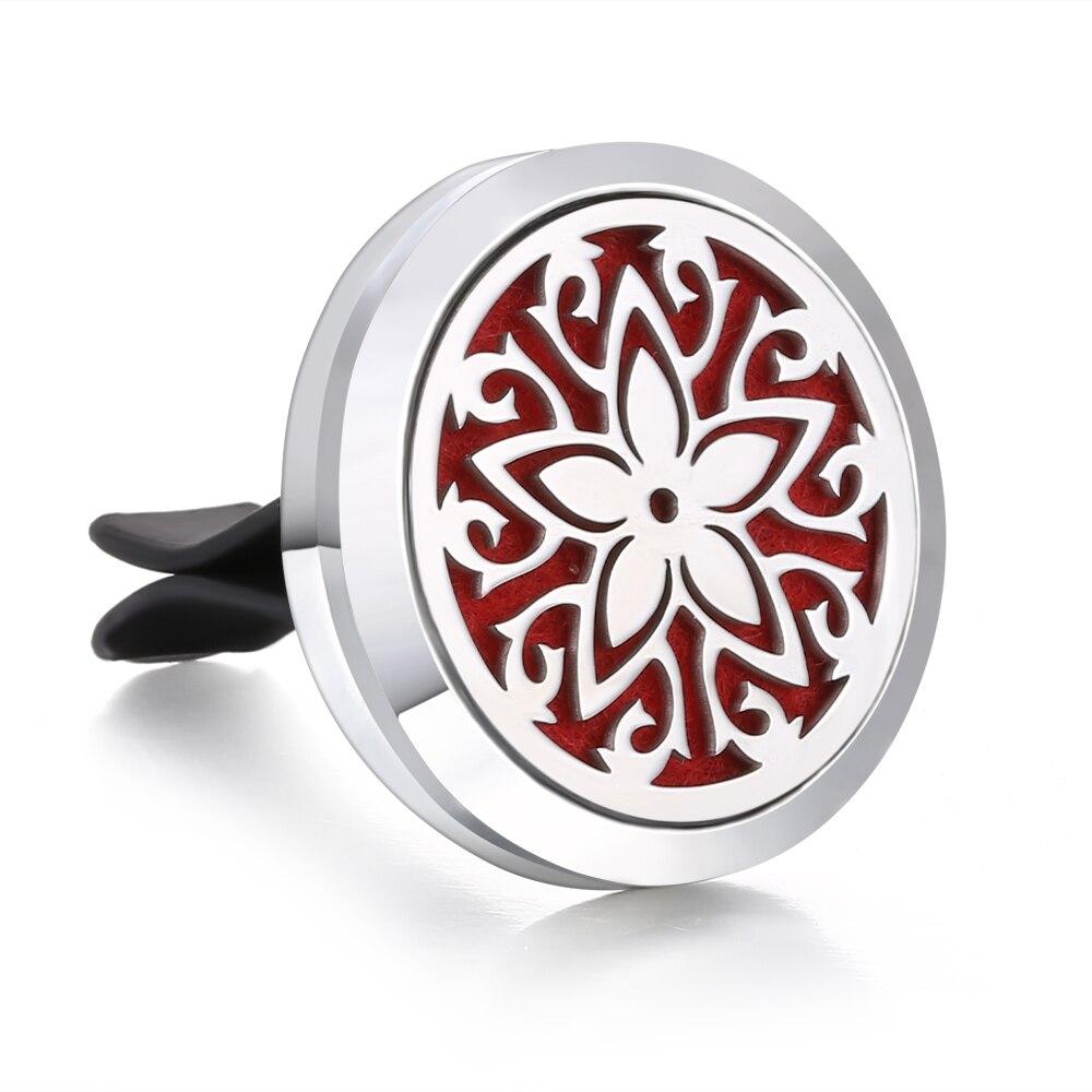 Ароматический диффузор ожерелье открытый медальон Подвеска для ароматерапии диффузор эфирного масла автомобильный освежитель воздуха автомобильный парфюмерный диффузор зажим - Окраска металла: 5