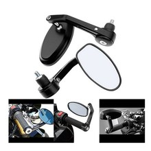 EE support Flexible Aluminum Alloy 22mm TO 25mm Handlebar End Motor Side Mirrors Black Motocycle Rearview Mirrors XY01